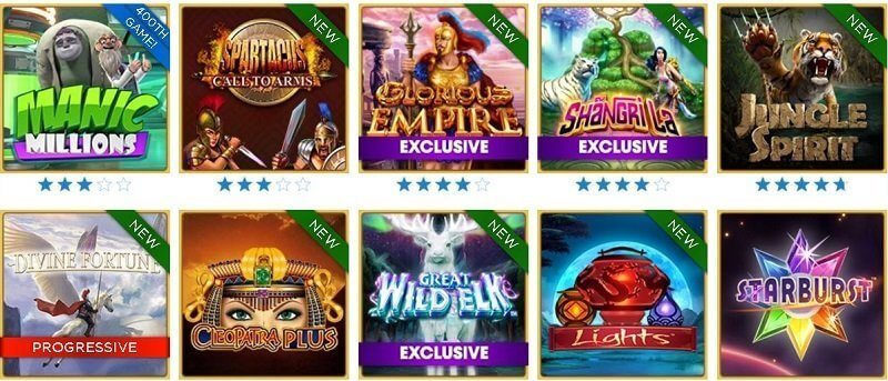 Huge Game selection on Resort Casino