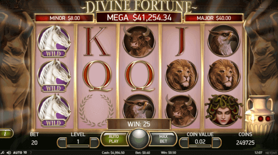 Play Divine Fortune at Resorts Online Casino