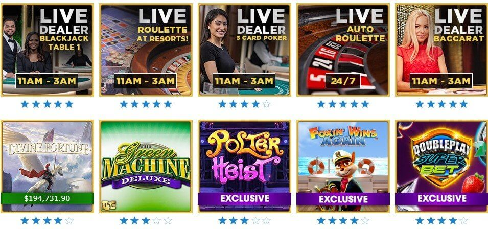 Resorts Casino Games