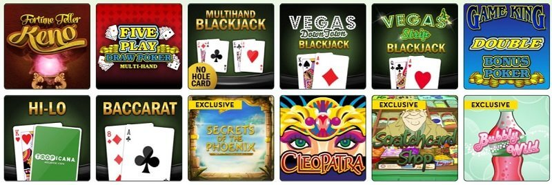 Tropicana Casino Online Games